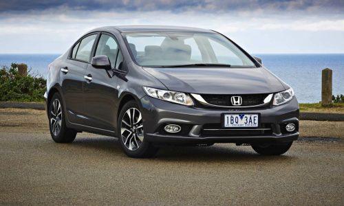 Honda Civic sedan now from $18,490, revised model line-up