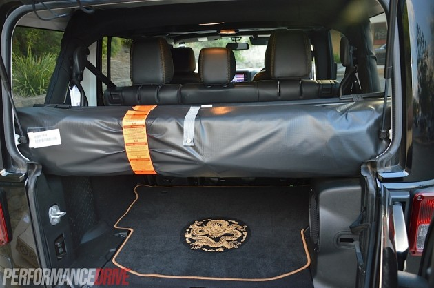 2014 Jeep Wrangler Dragon-cargo area