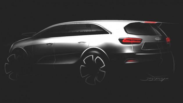 2015 Kia Sorento rear teaser