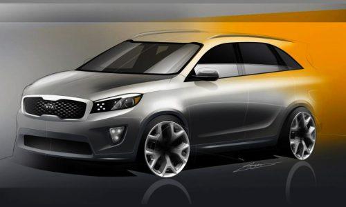 2015 Kia Sorento sketches preview fresh design