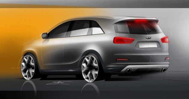 2015 Kia Sorento rendering-rear