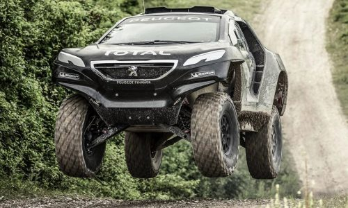 Peugeot 2008 DKR Dakar car will compete with 2WD (video)
