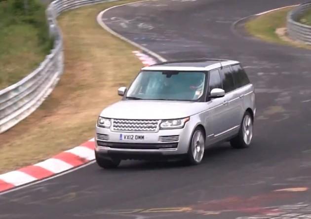 2015 Range Rover at Nurburgring