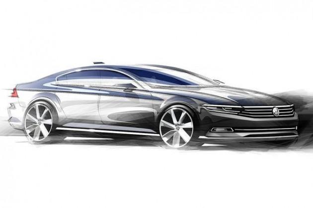 2015-Volkswagen-Passat-sketch