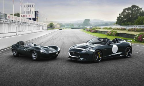 Jaguar F-Type Project 7 with classic D-Type