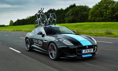 Jaguar F-Type Coupe acts as support car for Tour de France
