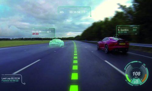 Jaguar reveals Virtual Windscreen with ghost car laps (video)
