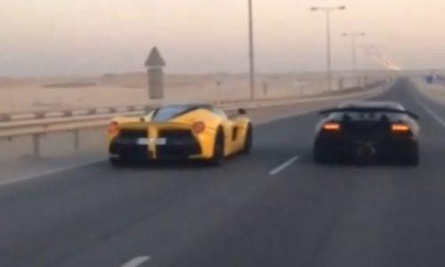Amazing race; Ferrari LaFerrari vs Lamborghini Sesto Elemento