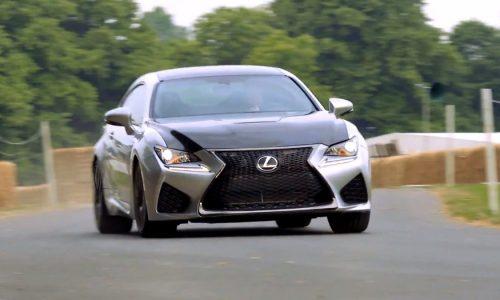 Lexus RC F attacks Goodwood hill