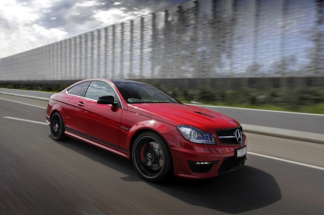 Mercedes Benz C 63 Edition 507 coupe driving