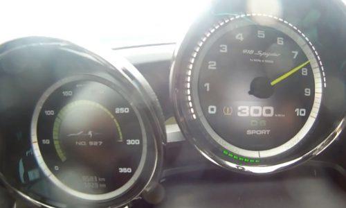 Porsche 918 Spyder does 0-333km/h