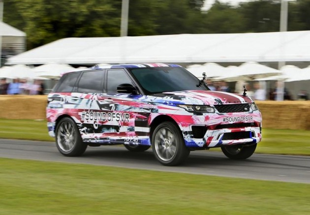 Range Rover Sport SVR prototype at Goodwood-front