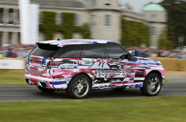 Range Rover Sport SVR prototype at Goodwood-rear