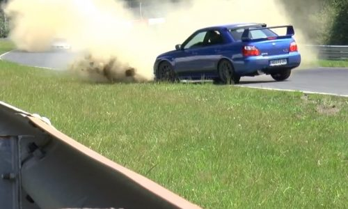 Extremely lucky WRX survives high-speed spin at Nurburgring