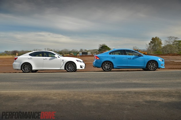 Volvo S60 Polestar vs Lexus IS F-road