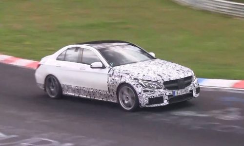Video: 2015 Mercedes C 63 AMG spotted, drive mode testing?