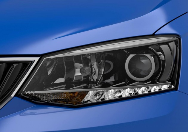 2015 Skoda Fabia headlight