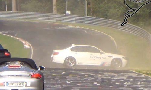 BMW M5 Ring-Taxi crashes at Nurburgring