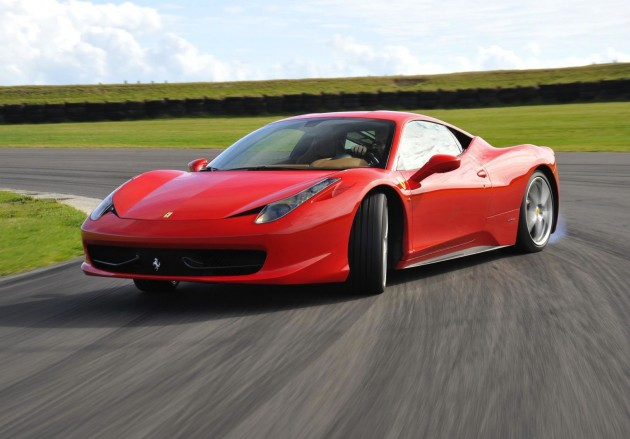 Ferrari 458-drifting