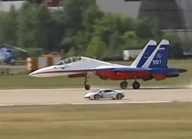 Lamborghini Huracan vs Sukhoi Su-27