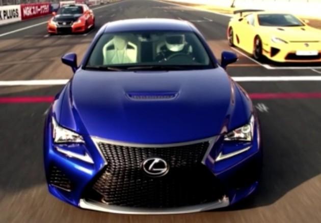 Lexus RC F technical highlights