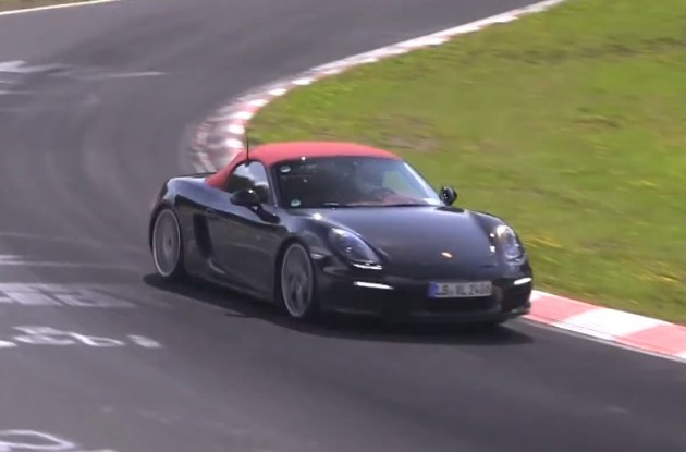 2015 Porsche Boxster prototype four-cylinder maybe