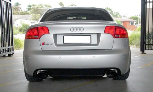 Audi RS 4 B7 engine sound with aftermarket exhaust