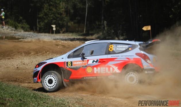 Chris Atkinson Hyundai i20 WRC-sideways