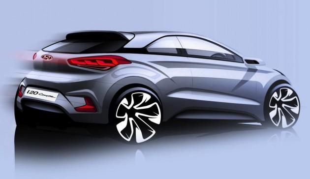 Hyundai i20 Coupe sketch
