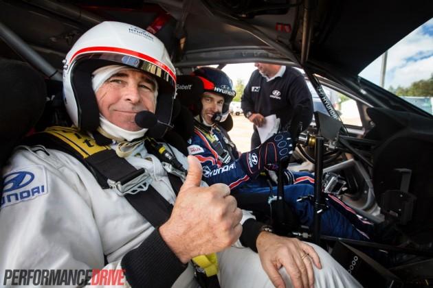 Jon Thomson and Chris Atkinson Hyundai i20 WRC