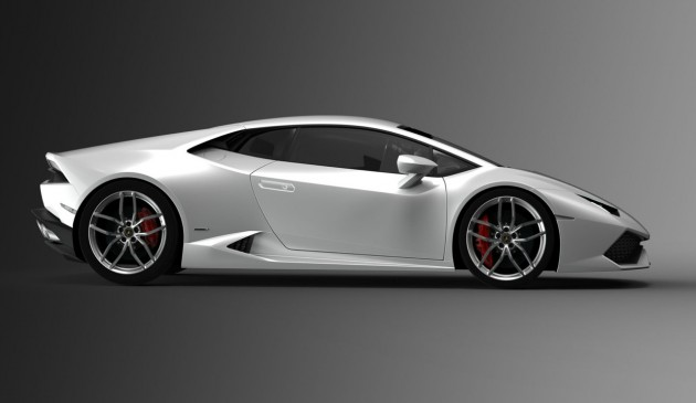 Lamborghini Huracan 610-4-side profile