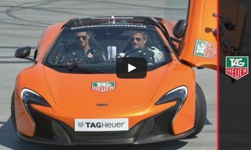 Ronaldo & Jenson Button take the McLaren P1 for a spin