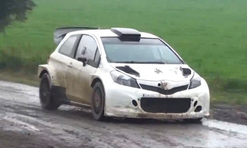 Toyota Yaris WRC car spotted undergoing testing (video)