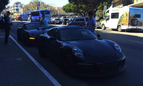 2015 Porsche 911 GT3 RS prototypes spotted in USA (video)