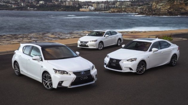 2015 Lexus CT IS ES range