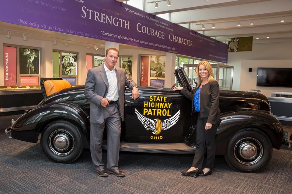 Bmw Columbus Ohio >> Arnold Schwarzenegger visits Ohio State Highway Patrol ...