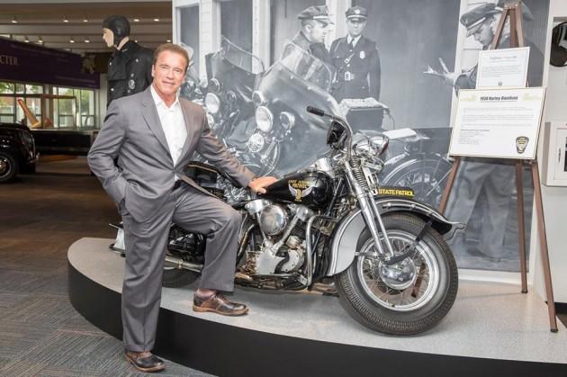 Arnold Schwarzenegger Ohio State Highway Patrol Museum motorcycle