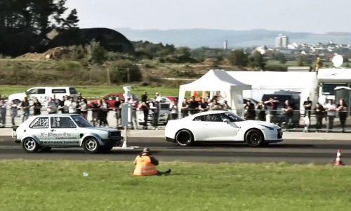 Video: 1100hp Boba VW Golf runs world record quarter mile