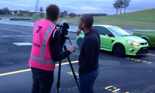 Chris Harris in Australia test driving HSV GTS Maloo