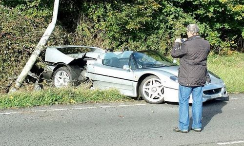 Nasty Ferrari F50 crash could be most expensive in UK