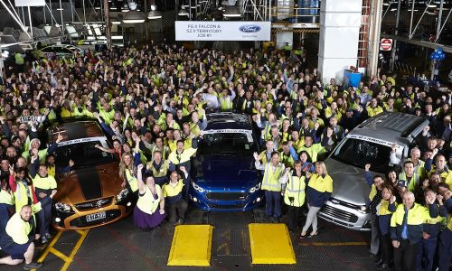 2015 Ford Falcon FG X production begins, on sale December 1