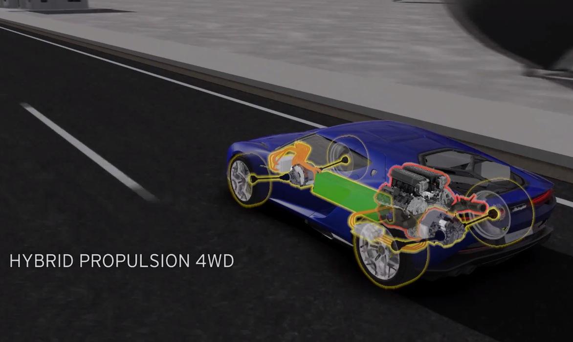 Video Lamborghini Asterion Concept Hybrid Walk Through