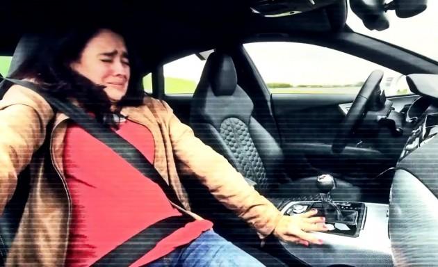 Piloted Audi RS 7-passenger