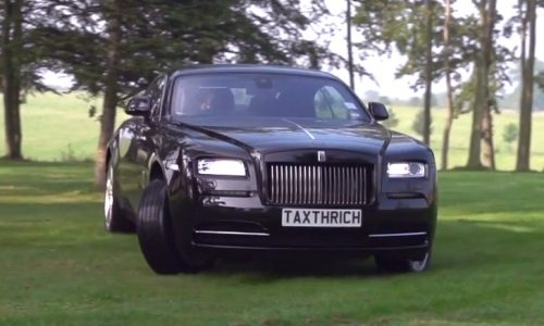 TaxTheRich punishes a Rolls Royce Wraith