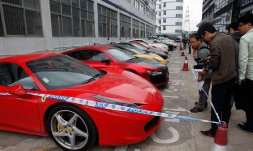 Police seize 12 supercars in China after caught racing