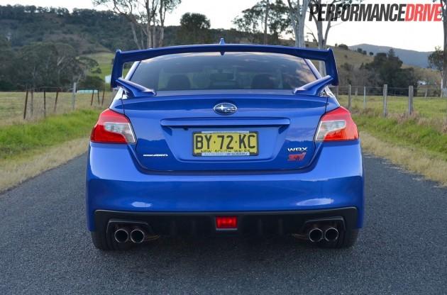 2014 Subaru WRX STI rear exterior