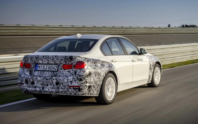 2015 BMW 3 Series Plug-in Hybrid prototype-rear