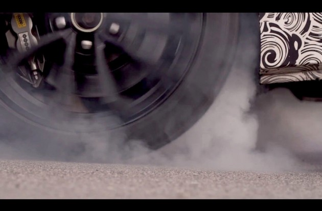 2016 Cadillac ATS-V burnout