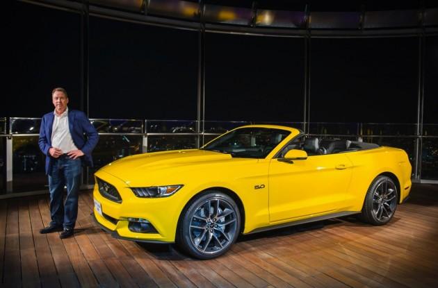Bill Ford 2015 Mustang at Burj Khalifa