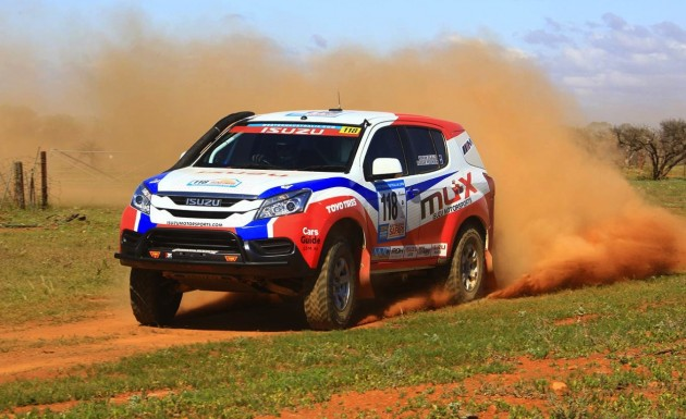 Isuzu MU-X rally car